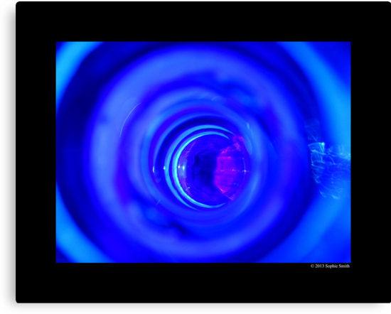 Inside Of The Cobalt Blue Glass Bottle  by © Sophie W. Smith