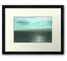 Approaching Continents Edge Framed Print