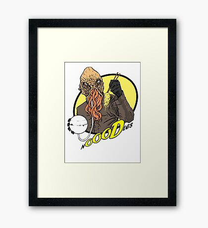 nOOODles! Doctor Who Framed Print