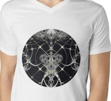 Golden Web Mens V-Neck T-Shirt