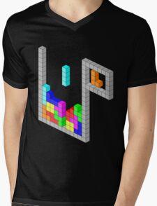 Isometric Tetris Mens V-Neck T-Shirt