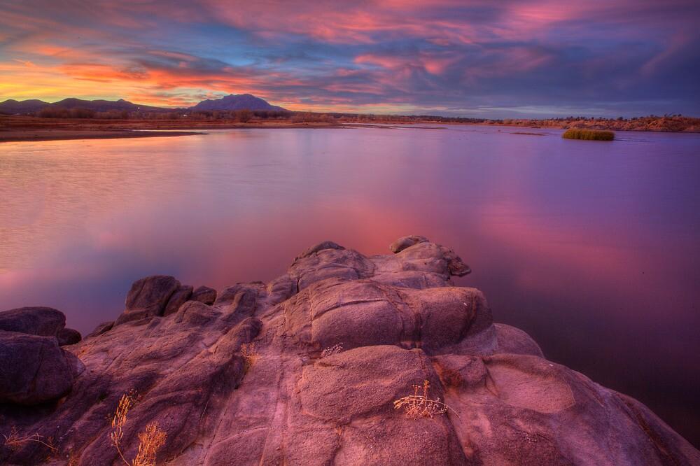 Willow Lake Pink Blue by Bob Larson