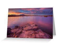 Willow Lake Pink Blue Greeting Card
