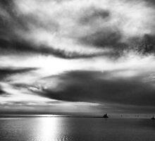 Black and White Sunset by Jonathan Evans