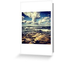 Clouds and Waves Greeting Card