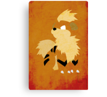 Growlithe Canvas Print