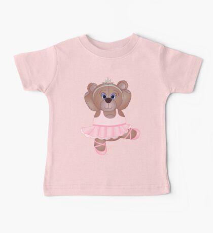 Cute Cartoon Teddy Bear Ballerina Baby Tee