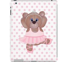 Cute Cartoon Teddy Bear Ballerina iPad Case/Skin
