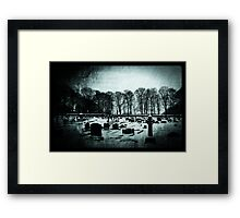 A white day Framed Print