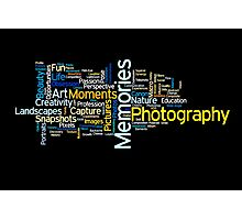 Photography Word Art 2 Photographic Print
