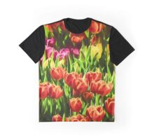 Coloured Tulips   (GO) Graphic T-Shirt