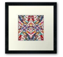 Abstract Color Mix Framed Print