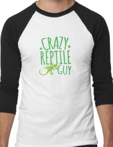 Crazy Reptile Guy Men's Baseball ¾ T-Shirt