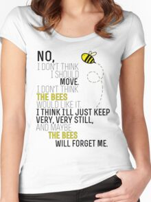 Lots and Lots of Bees! Women's Fitted Scoop T-Shirt