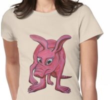 Aardvark (cut out) Womens Fitted T-Shirt