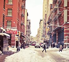 Winter in New York City - Soho in the Snow by Vivienne Gucwa