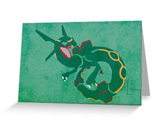 Rayquaza Greeting Card