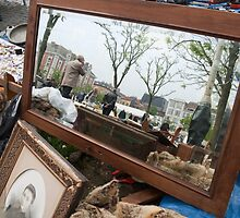 Mirror at Flea Market by Michel Godts