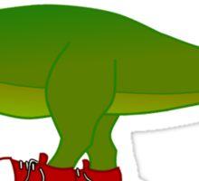 T-rex hates shoelaces Sticker