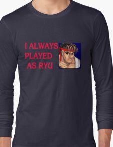 Street Fighter 2 Memories RYU Long Sleeve T-Shirt