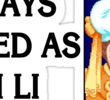 Street Fighter 2 Memories CHUN LI Sticker