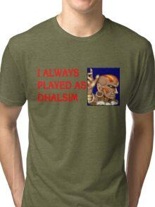 Street Fighter 2 Memories DHALSIM Tri-blend T-Shirt