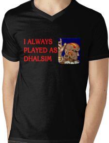 Street Fighter 2 Memories DHALSIM Mens V-Neck T-Shirt