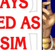 Street Fighter 2 Memories DHALSIM Sticker