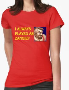 Street Fighter 2 Memories ZANGIEF Womens Fitted T-Shirt