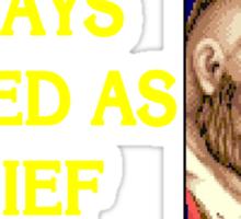 Street Fighter 2 Memories ZANGIEF Sticker