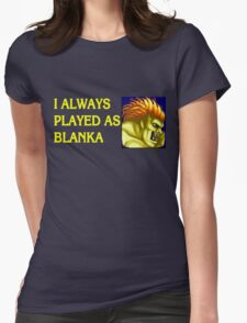 Street Fighter 2 Memories BLANKA Womens Fitted T-Shirt