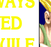 Street Fighter 2 Memories GUILE Sticker