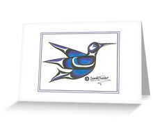 blue humming bird Greeting Card