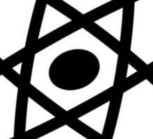 The Big Bang Theory Atom Logo 2 (in black) Sticker