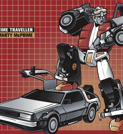 Back To The Future Transformers Sticker
