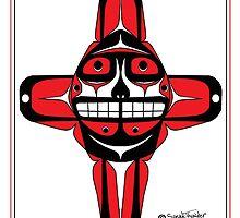 Smiling Sun red by Speakthunder