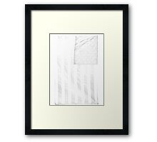 USA transparent Framed Print