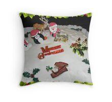 A Kiss For Santa  Throw Pillow