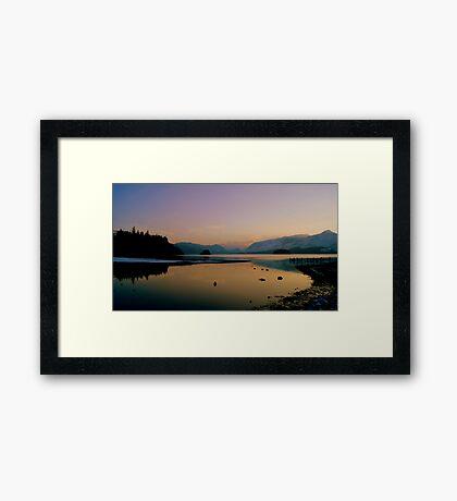 Derwent Water, Lake District National Park. Framed Print