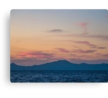 Sunset from Nisyros   The Aegean Sea Canvas Print