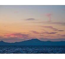 Sunset from Nisyros   The Aegean Sea Photographic Print