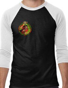 Zombie Apocalypse Survivor Type (Small Pic upr rt shoulder) Men's Baseball ¾ T-Shirt