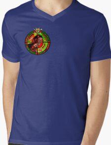 Zombie Apocalypse Survivor Type (Small Pic upr rt shoulder) Mens V-Neck T-Shirt
