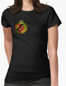 Zombie Apocalypse Survivor Type (Small Pic upr rt shoulder) Womens Fitted T-Shirt