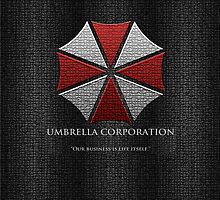 Umbrella Corporation Logo iPhone Cover by Ben Swinscoe
