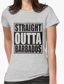Straight Outta Barbados Womens Fitted T-Shirt