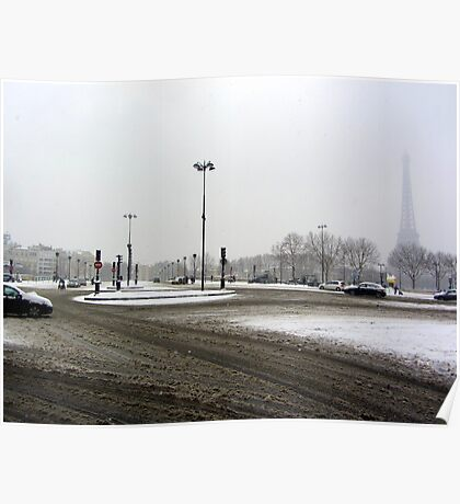 Paris dressed in white Poster