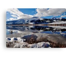 Slide Mountain Reflection Canvas Print