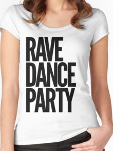 Rave Dance Party (black) Women's Fitted Scoop T-Shirt