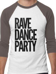 Rave Dance Party (black) Men's Baseball ¾ T-Shirt